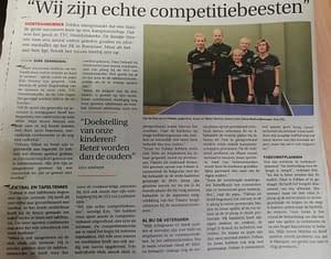 TTC Oostduinkerke Krantenartikel Familie Werner 20201023