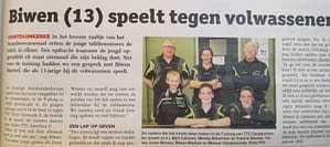 TTC Oostduinkerke Krantenartikel Biwen maart 2018