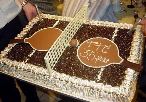 TTC Oostduinkerke 35 jaar Taart